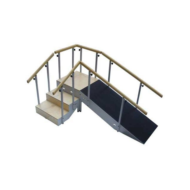 Stairs with Ramp. NEW.